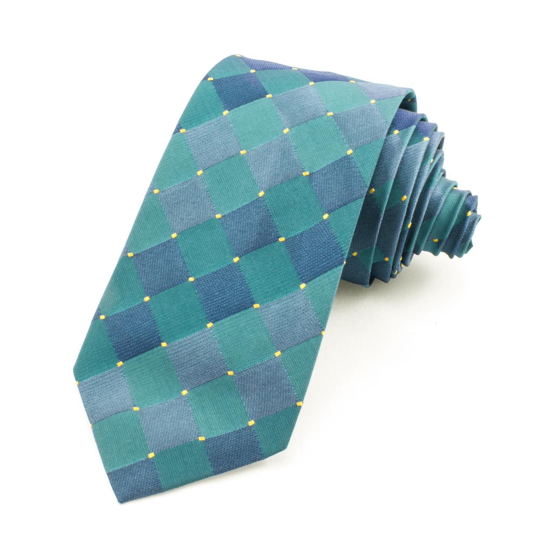 Slips rutig, blå-grön – Atlas Design (ATD-01-0004)