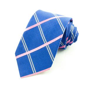 Slips rutig, blå-rosa (NON-01-0003)
