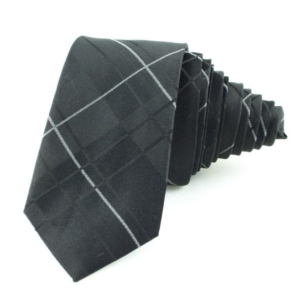 Slips rutig, svart-grå (NON-01-0006)